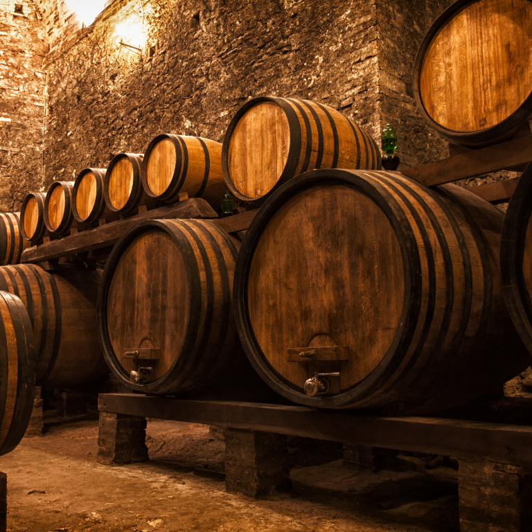 barrels of wine