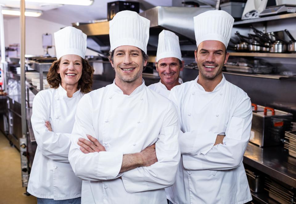 four chefs